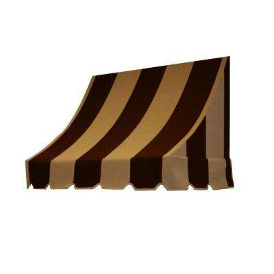5 ft. Nantucket Window/Entry Awning (56 in. H x 48 in. D) in Brown/Tan Stripe
