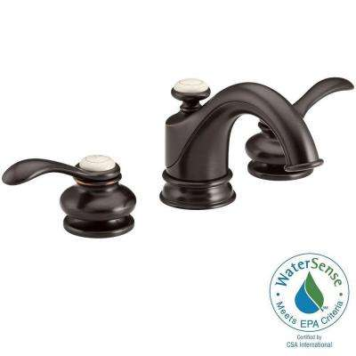 Fairfax 8 in. Widespread 2-Handle Mid-Arc Water-Saving Bathroom Faucet in Oil-Rubbed Bronze