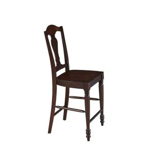 Home Styles Country Comfort 24.5 in. Aged Bourbon Bar Stool