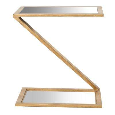 Andrea Gold Mirror Top End Table