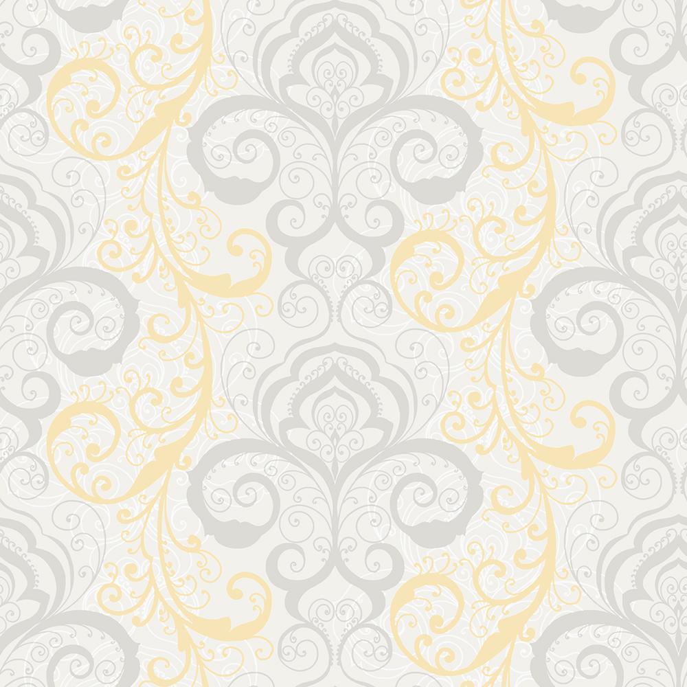 Vanessa Peach Henna Brocade Wallpaper
