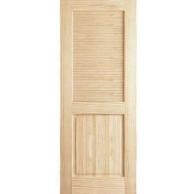 18 in. x 80 in. Louver Panel Unfinished Solid Core Pine Interior Door Slab