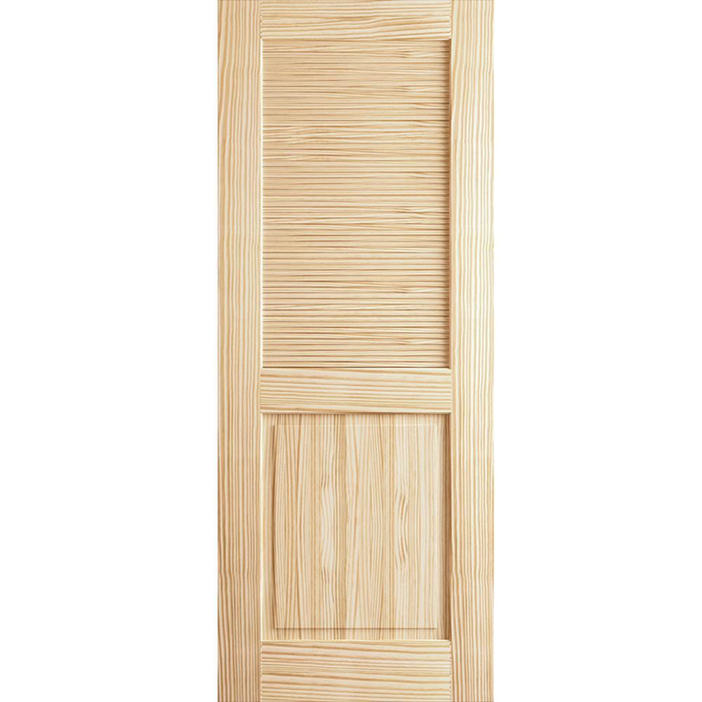 30 in. x 80 in. Louver Panel Unfinished Solid Core Pine