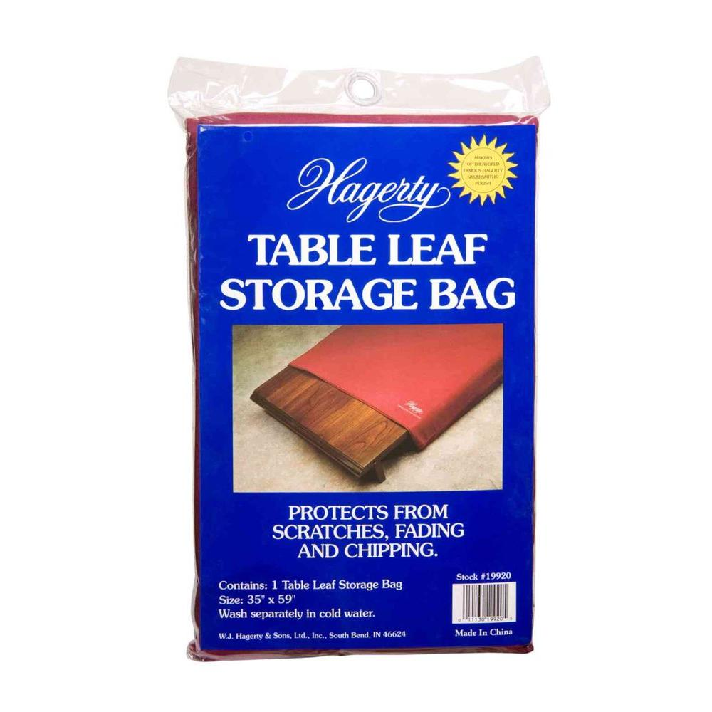 Hagerty 35 in. x 59 in. Burgundy Table Leaf Storage Bag