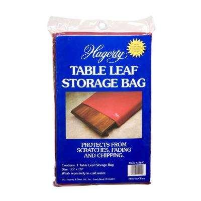 35 in. x 59 in. Burgundy Table Leaf Storage Bag