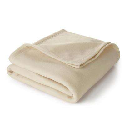 Supersoft Fleece Ivory Polyester Full/Queen Blanket
