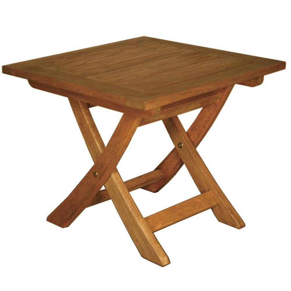 Blue Star Group Terrace Mates Aspen Folding Square Patio End Table