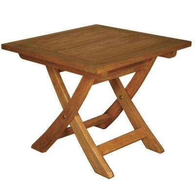 Terrace Mates Aspen Folding Square Patio End Table