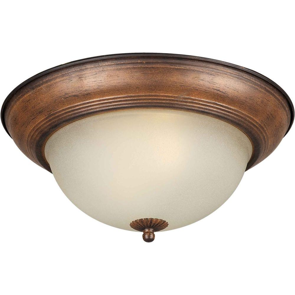 Sienna Flush Mount With Shaded Umber