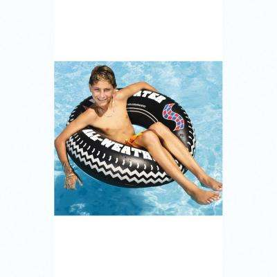 36 in. All Weather Sport Radial Print Monster Tire Ring Pool Float