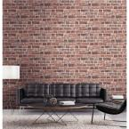 NextWall Distressed Red Brick Peel and Stick Wallpaper