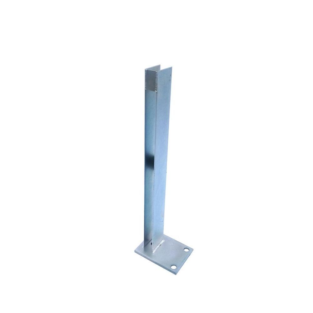 Simtek 24 In Zinc Plated Galvanized Steel End Fence Post