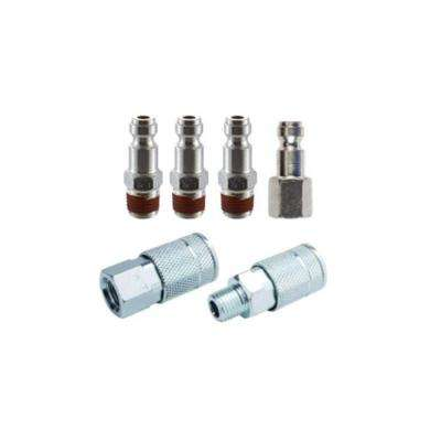 1/4 in. T-Coupler Plug with Increased Flow (6-Piece)