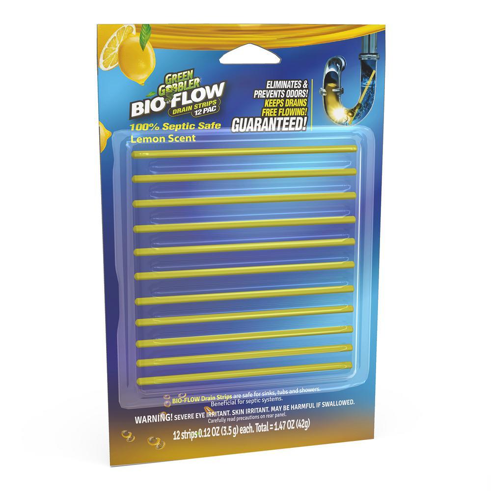 Lemon Scent Bio Flow Drain Strips (12-Pack)