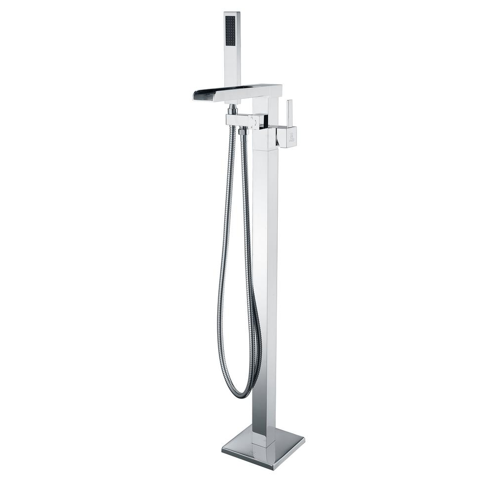 Union 2-Handle Claw Foot Tub Faucet with Hand Shower in Polished