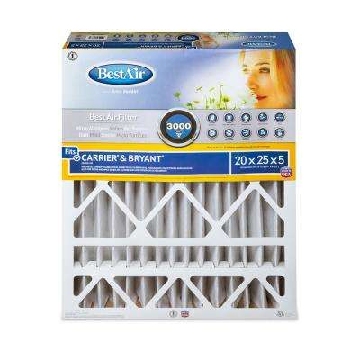 20 in. x 25 in. x 5 in. Carrier/Bryant FPR 10 Air Cleaner Filter