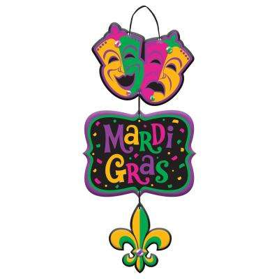 18 in. Mardi Gras MDF Stacked Sign (3-Pack)