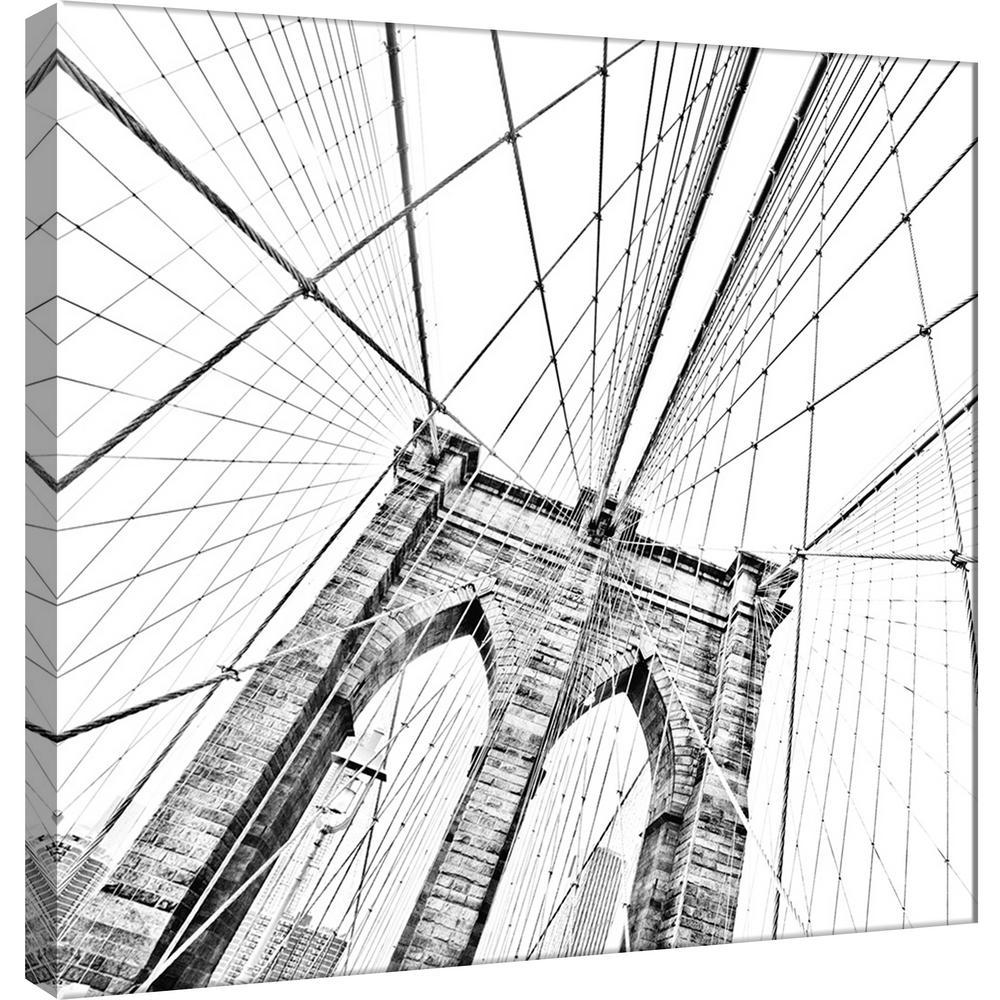 15 in. x 15 in. ''Brooklyn Bridge 1'' Printed Canvas Wall Art