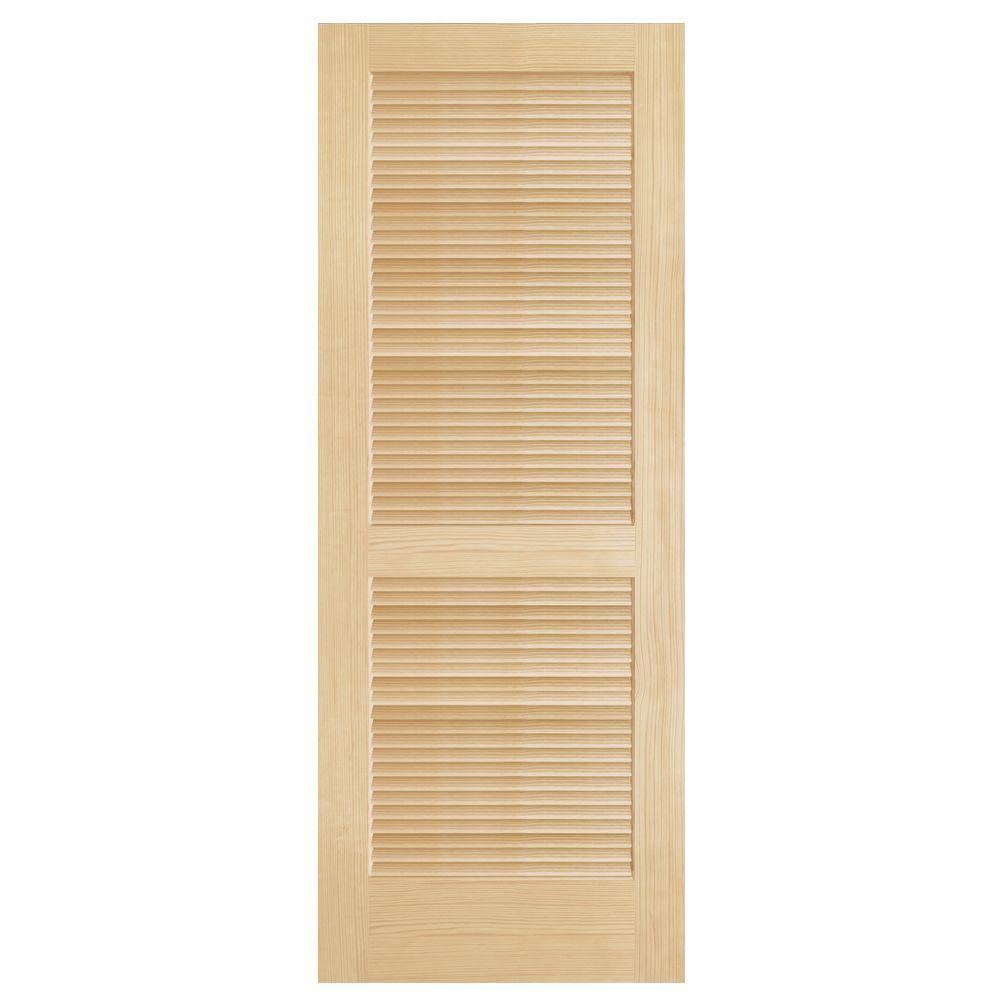 Steves & Sons Full Louver Unfinished Pine Interior Door Slab