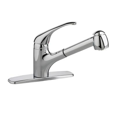 Reliant Plus Single-Handle Pull-Out Sprayer Kitchen Faucet in Polished Chrome