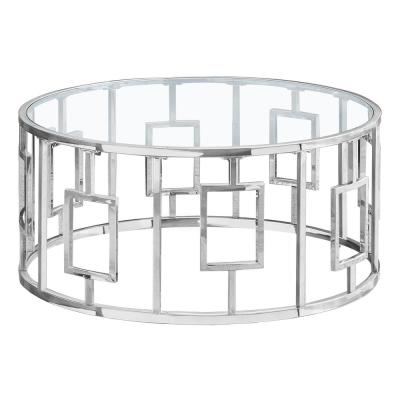 Chrome with Glass Coffee Table