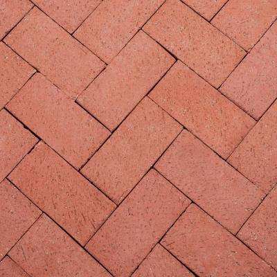 8 in. x 4 in. x 2.25 in. Brick Red Clay Paver (240-Pieces/53 sq. ft/Pallet)