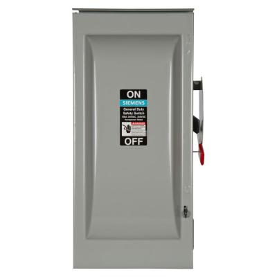 General Duty 100 Amp 240-Volt 2-Pole Outdoor Fusible Safety Switch with Neutral