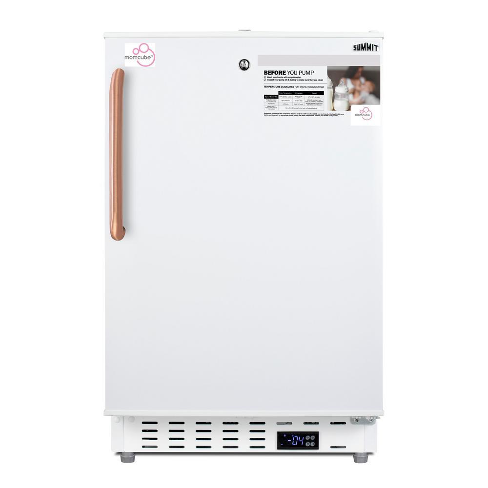 2.68 cu. ft. Manual Defrost Upright MOMCUBE Breast Milk Freezer in White, ADA Compliant