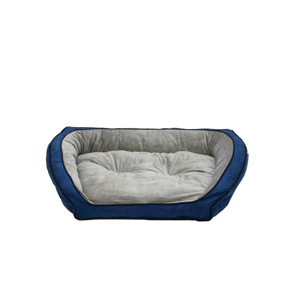 K&H Pet Products Bolster Couch Small Blue/Gray Pet Bed
