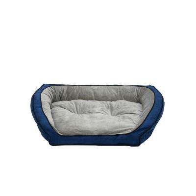 Bolster Couch Small Blue/Gray Pet Bed