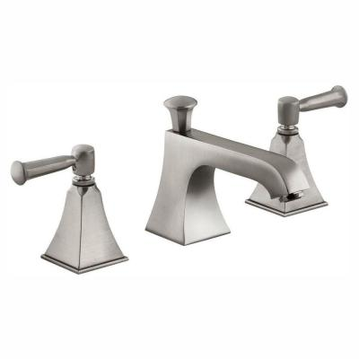 Memoirs 8 in. Widespread 2-Handle Low Arc Water-Saving Bathroom Faucet in Vibrant Brushed Nickel with Stately Design