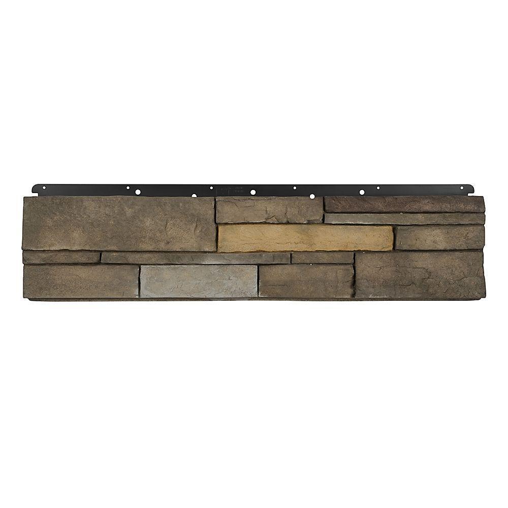 8 in. x 36 in. Versetta Stone Flat Ledgestone Sterling Siding (6-Bundles Per Case)
