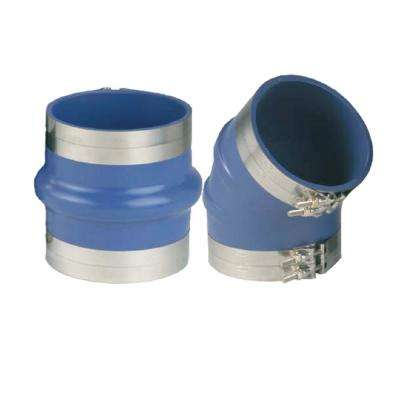 Hump Hose with Clamps 8, Blue