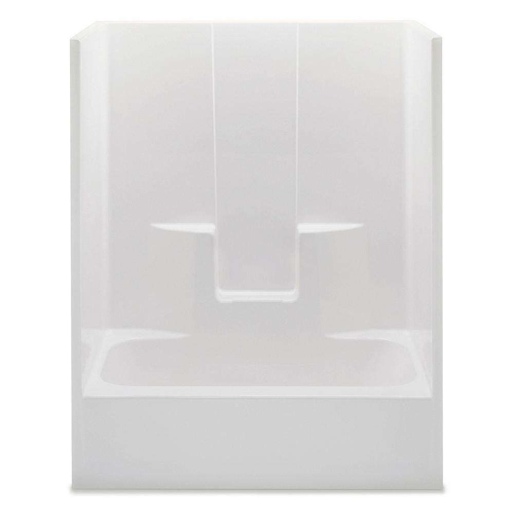 Everyday 60 in. x 32 in. x 72 in. 1-Piece Bath