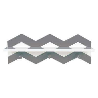 Gray Chevron 18 in. W x 4 in. D Wall Shelf
