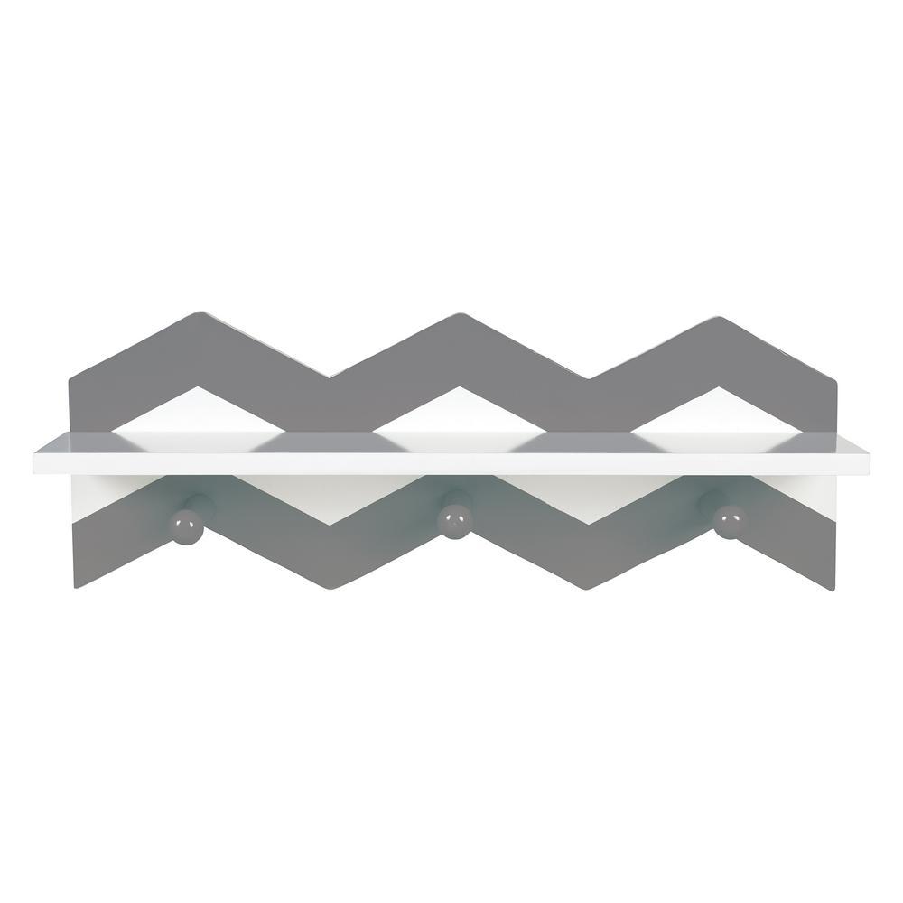 Trend Lab Gray Chevron 18 in. W x 4 in. D Wall Shelf