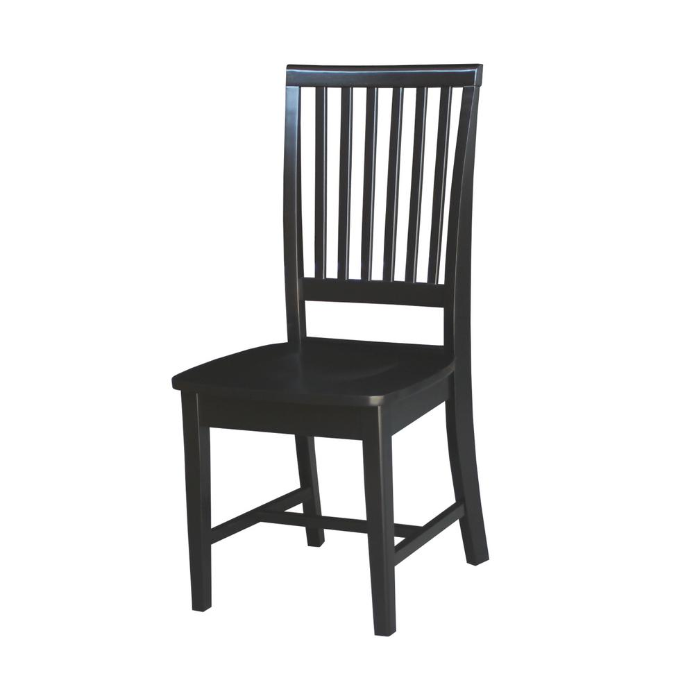 Black Wood Mission Dining Chair (Set of 2)