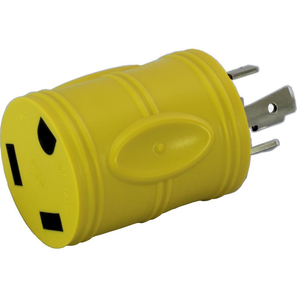 ac works rv generator adapter nema l14 30p 30 amp 125 volt. Black Bedroom Furniture Sets. Home Design Ideas