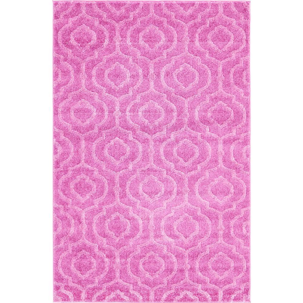 Trellis Frieze Pink 4 ft. x 6 ft. Area Rug
