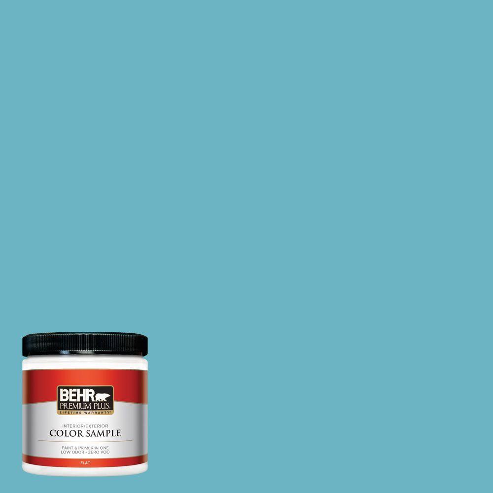 8 oz. #530D-5 Riverside Blue Interior/Exterior Paint Sample