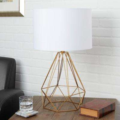 Celeste 26 in. Gold Table Lamp with Linen Shade