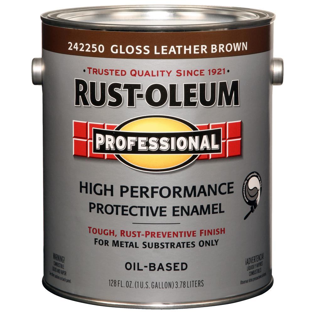 1 gal. High Performance Protective Enamel Gloss Leather Brown Oil-Based