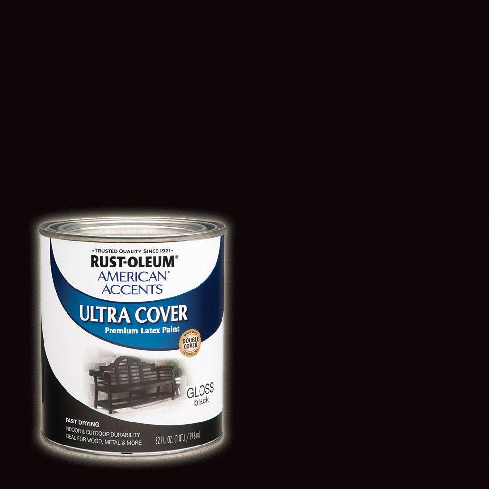 Rust-Oleum Painter's Touch 32 oz. Ultra Cover Gloss Black General Purpose Paint (Case of 2)