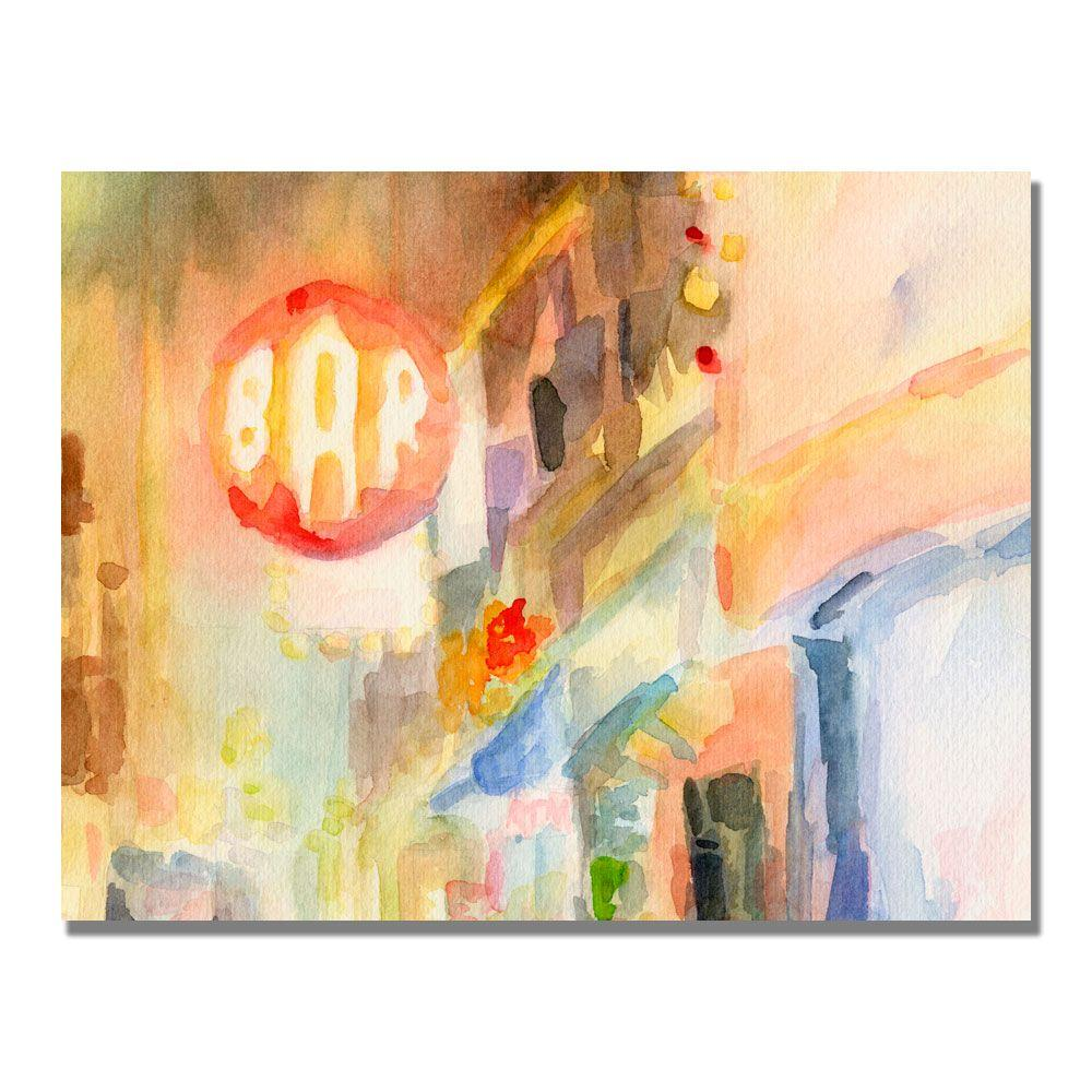 null 35 in. x 47 in. Bar 8th Avenue New York Canvas Art-DISCONTINUED