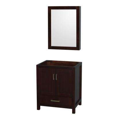Sheffield 30 in. Vanity Cabinet with Medicine Cabinet Mirror in Espresso