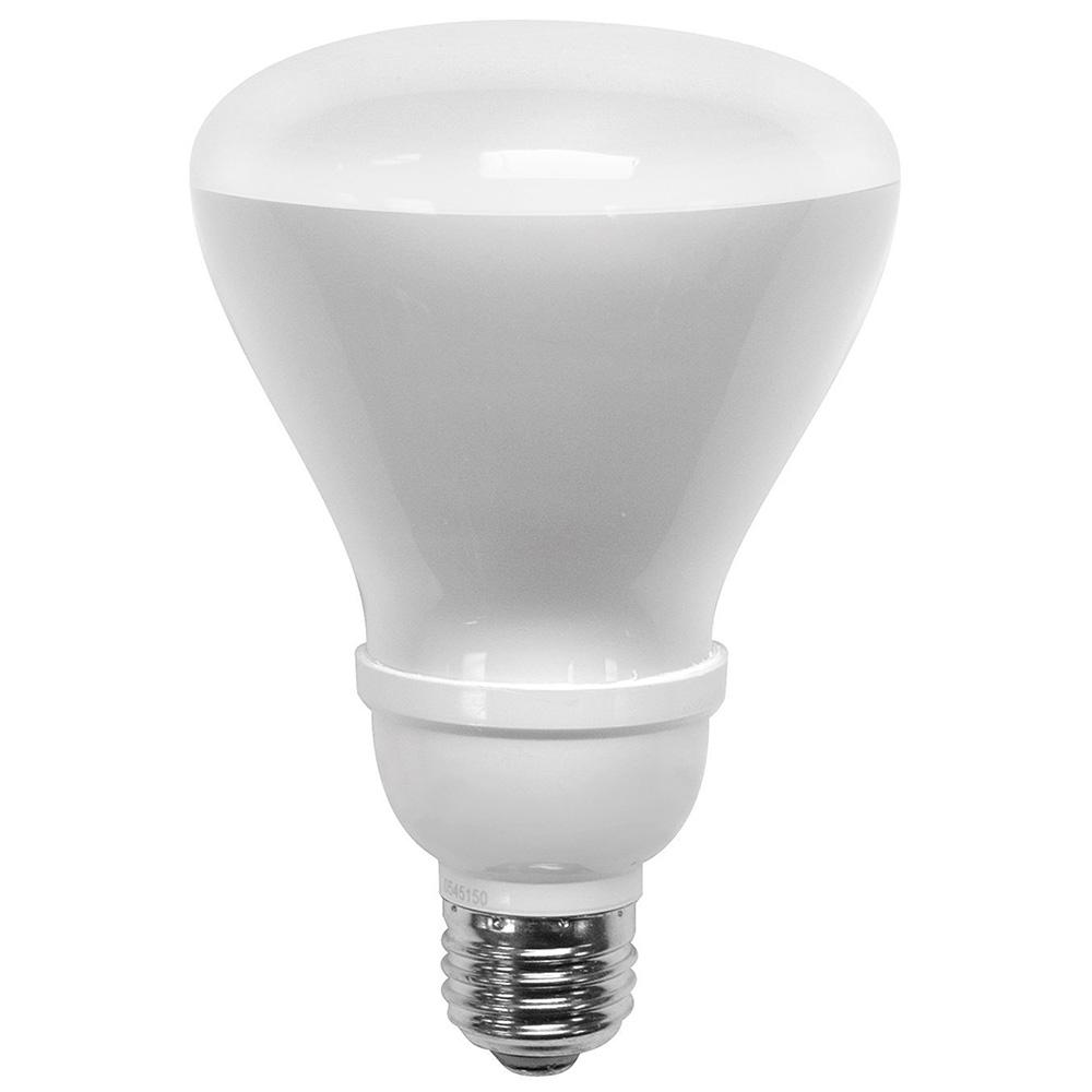 65W Equivalent Soft White R30 Non Dimmable CFL Flood Light Bulb