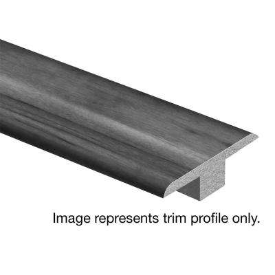 Vienna Oak 7/16 in. Thick x 1-3/4 in. Wide x 72 in. Length Laminate T-Molding