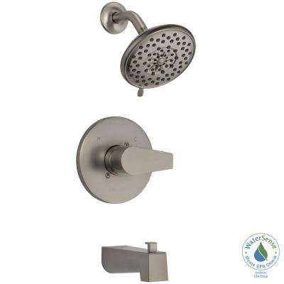 Xander 1-Handle Wall Mount Tub & Shower Trim Kit in Brushed Nickel (Valve Not Included)