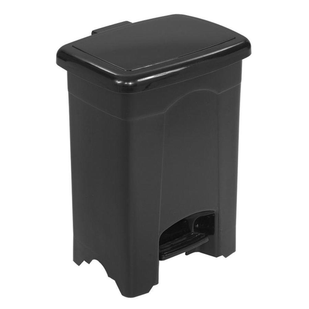 safco 4 gal plastic step on indoor recycling bin saf9710bl the home depot. Black Bedroom Furniture Sets. Home Design Ideas