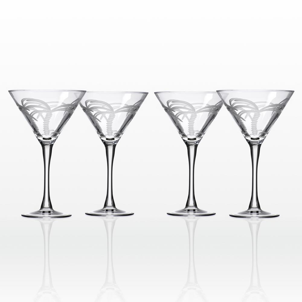 Palm Tree 10 oz. Clear Martini (Set of 4)